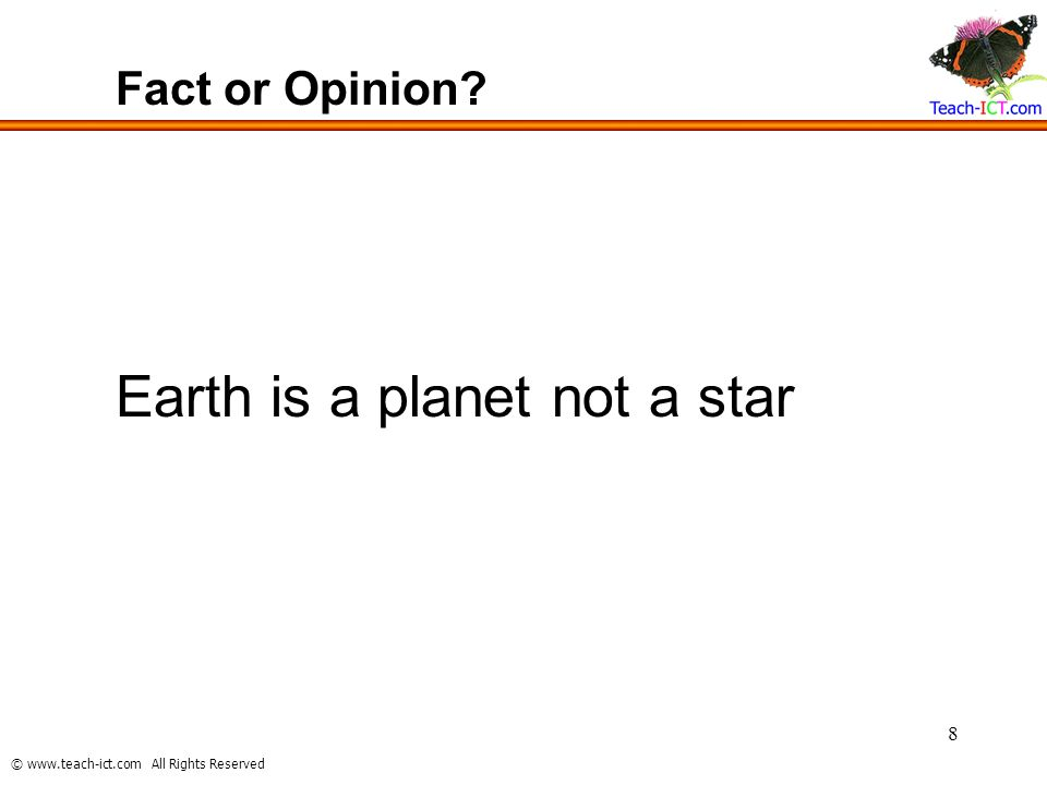 Earth is a planet not a star