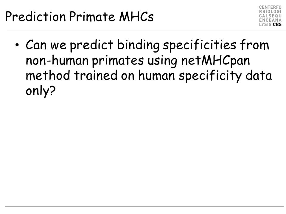 Prediction Primate MHCs