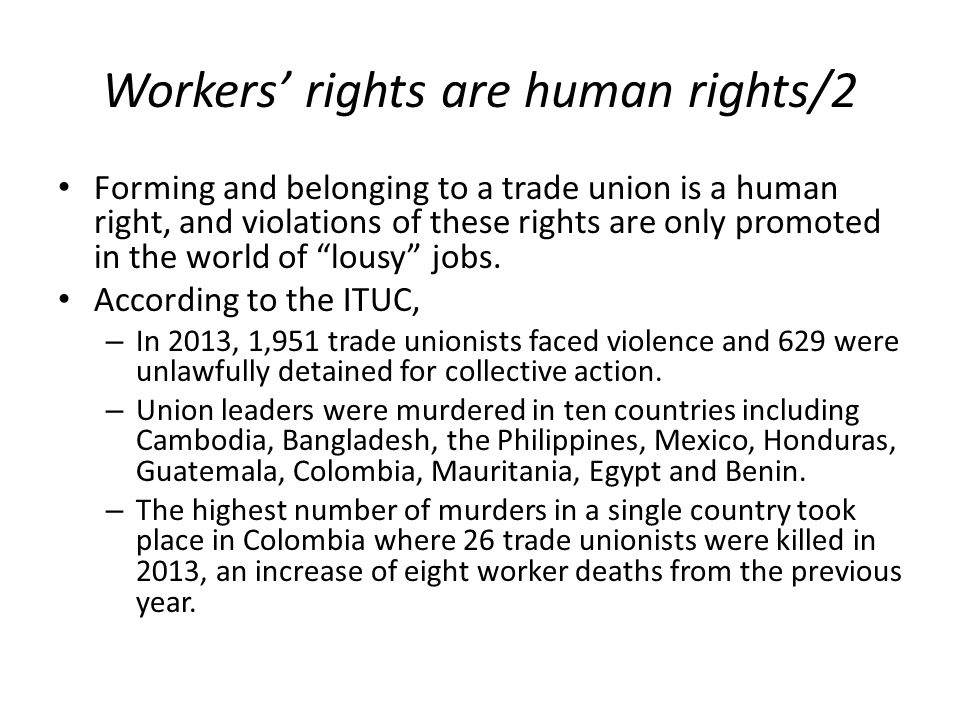Workers' rights are human rights/2