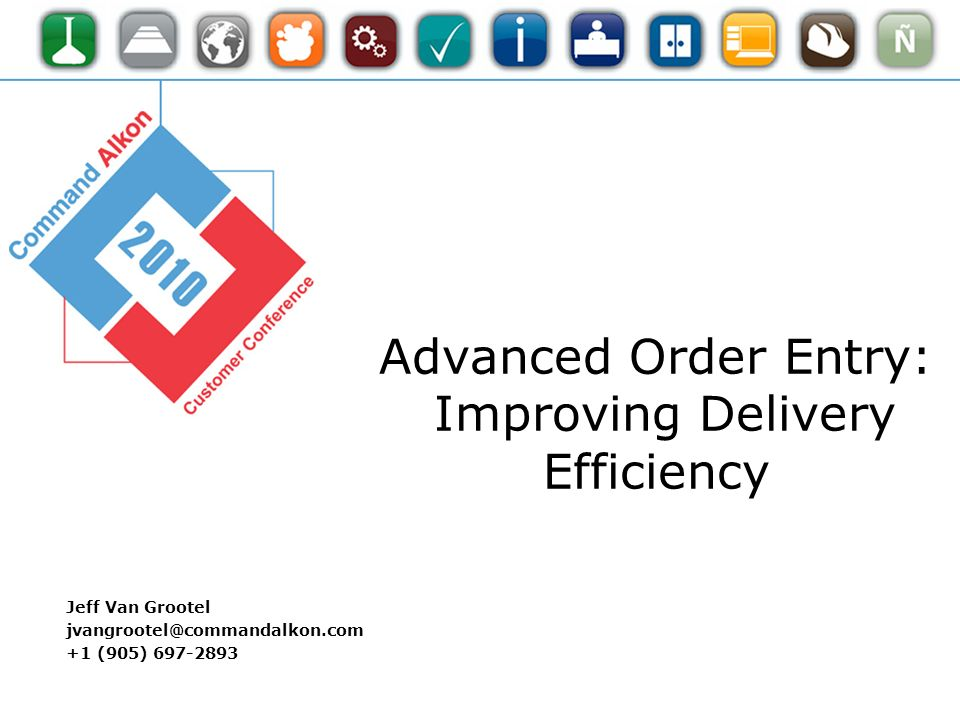 Advanced Order Entry: Improving Delivery Efficiency