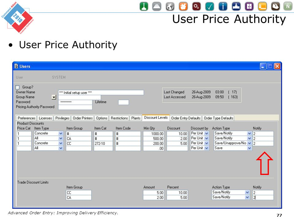 User Price Authority User Price Authority