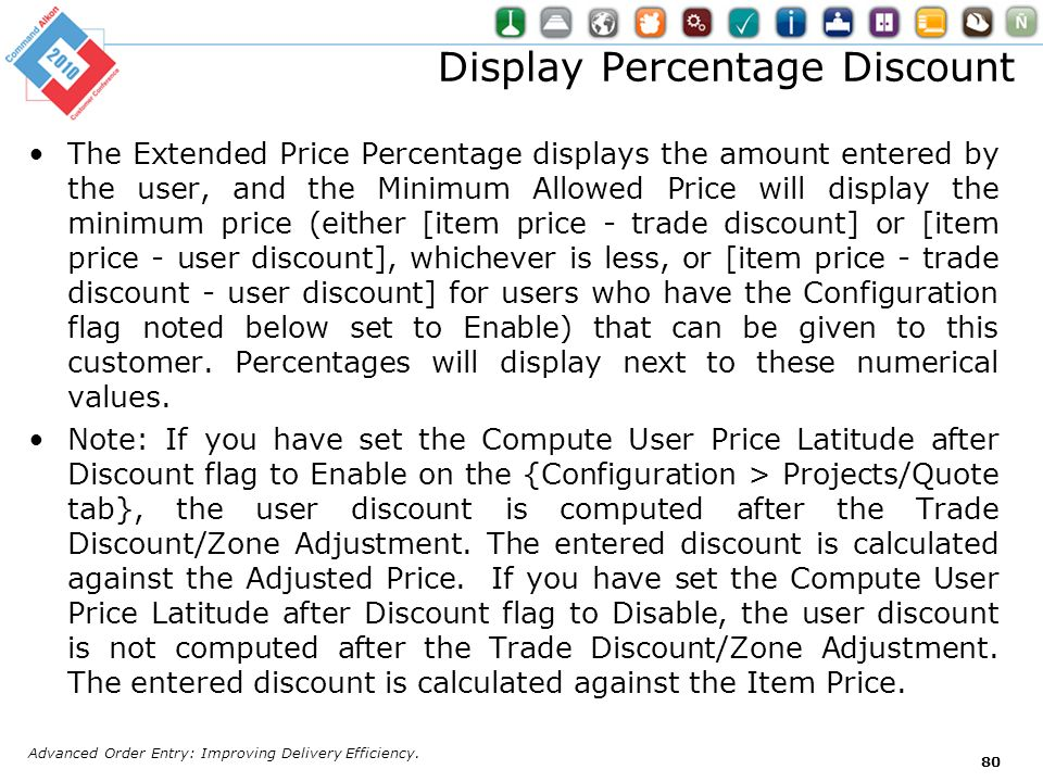 Display Percentage Discount