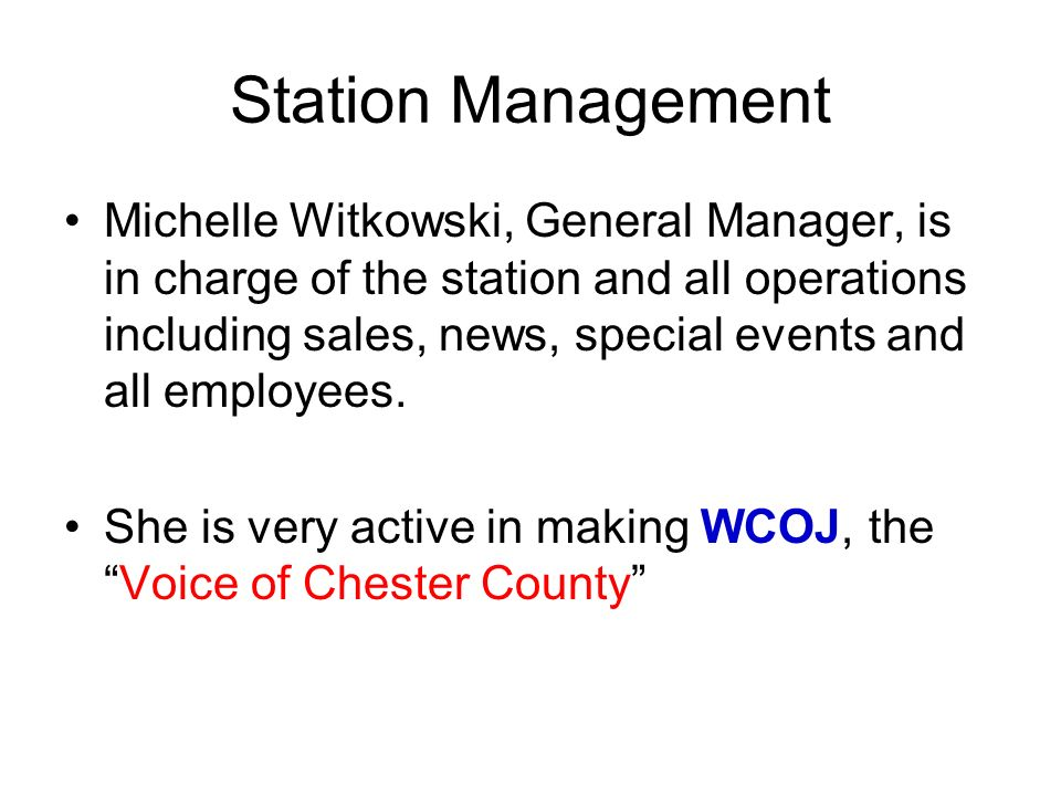 Station Management