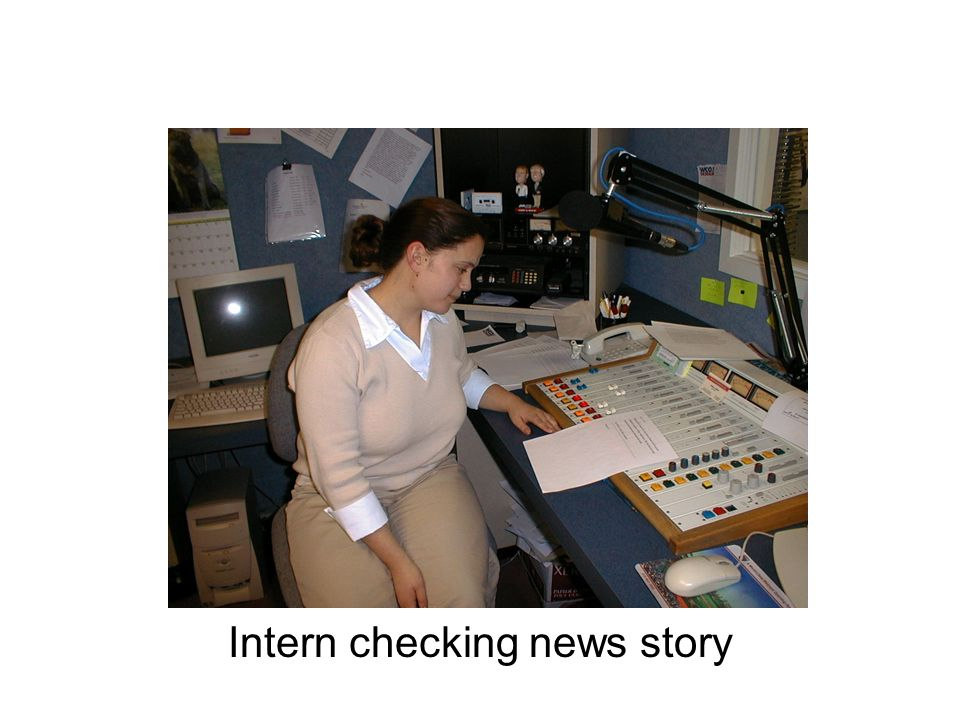 Intern checking news story
