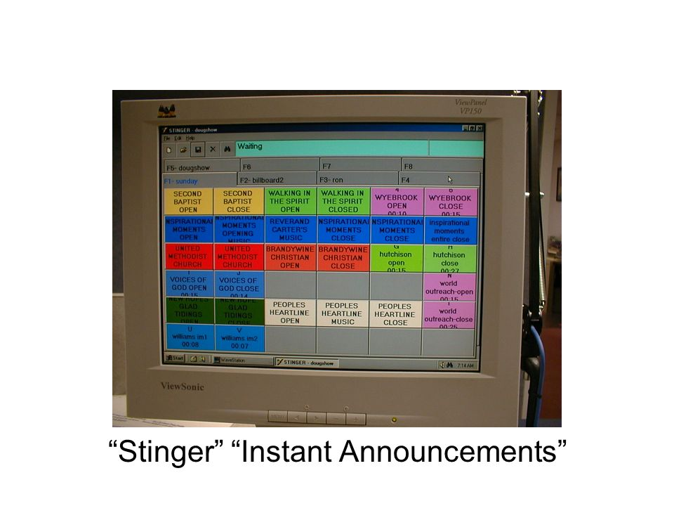 Stinger Instant Announcements