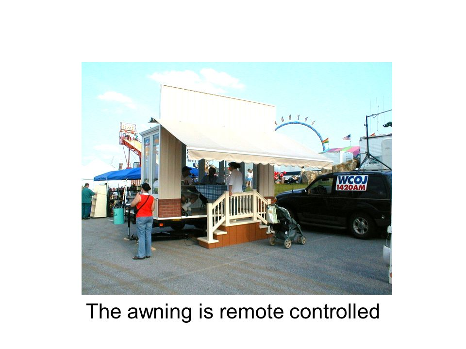 The awning is remote controlled
