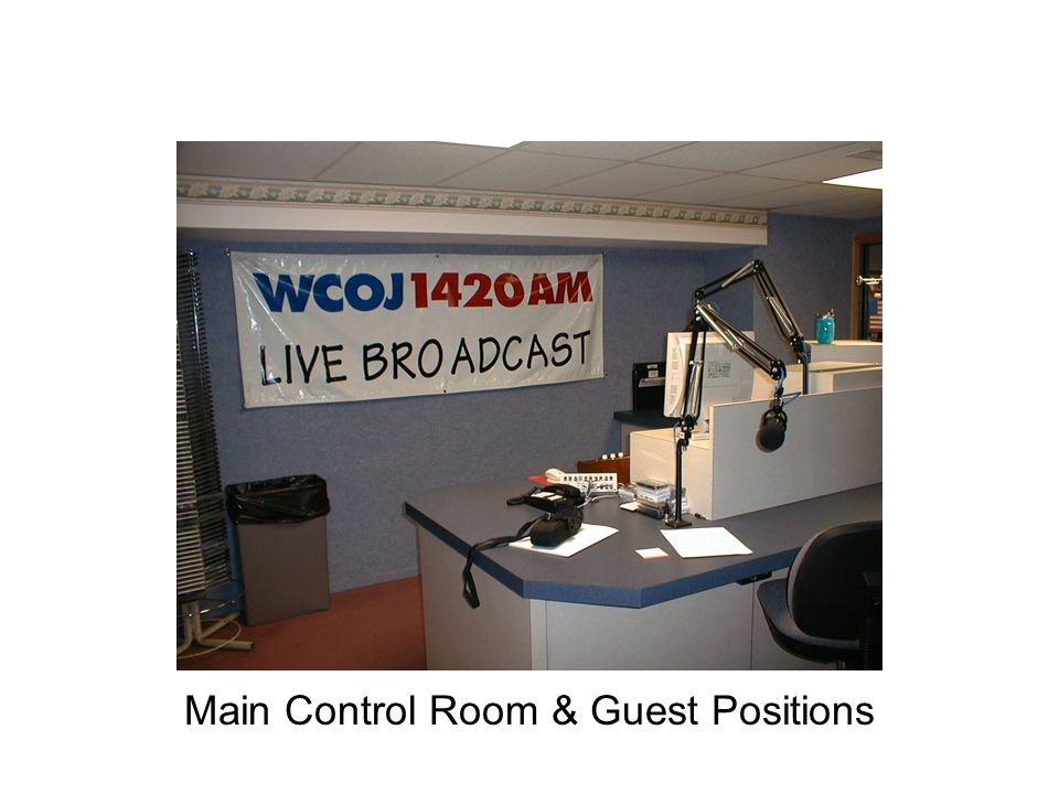 Main Control Room & Guest Positions