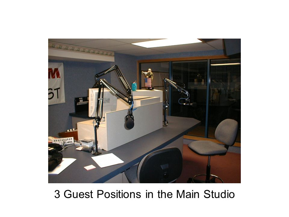 3 Guest Positions in the Main Studio