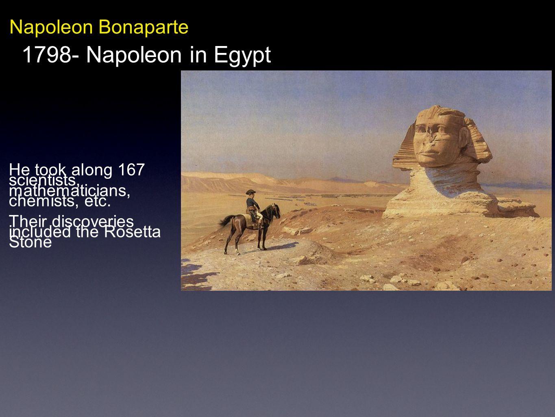 1798- Napoleon in Egypt Napoleon Bonaparte