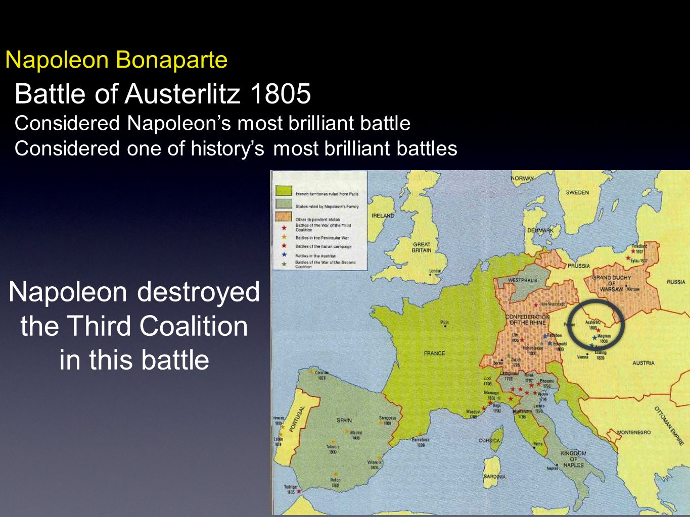 Napoleon destroyed the Third Coalition in this battle