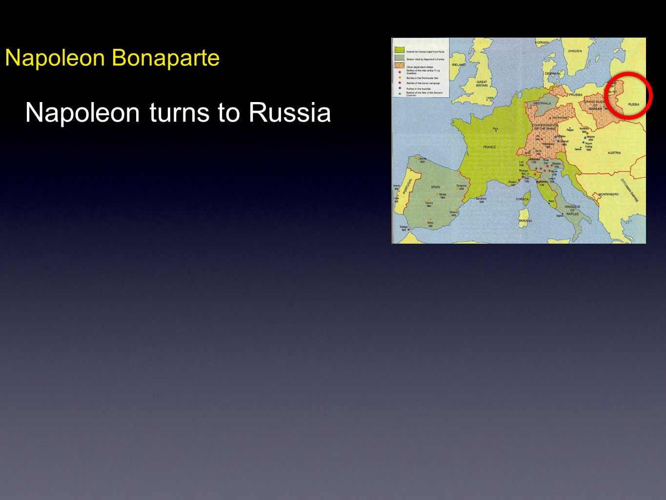 Napoleon turns to Russia