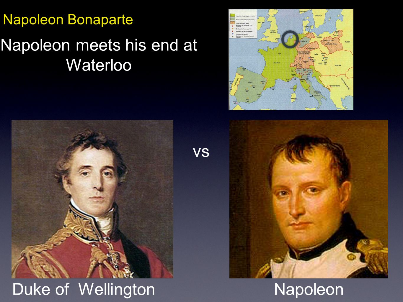 Napoleon meets his end at Waterloo