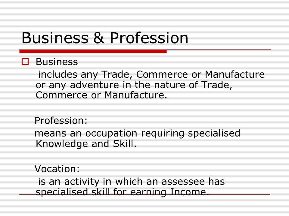 Business & Profession Business