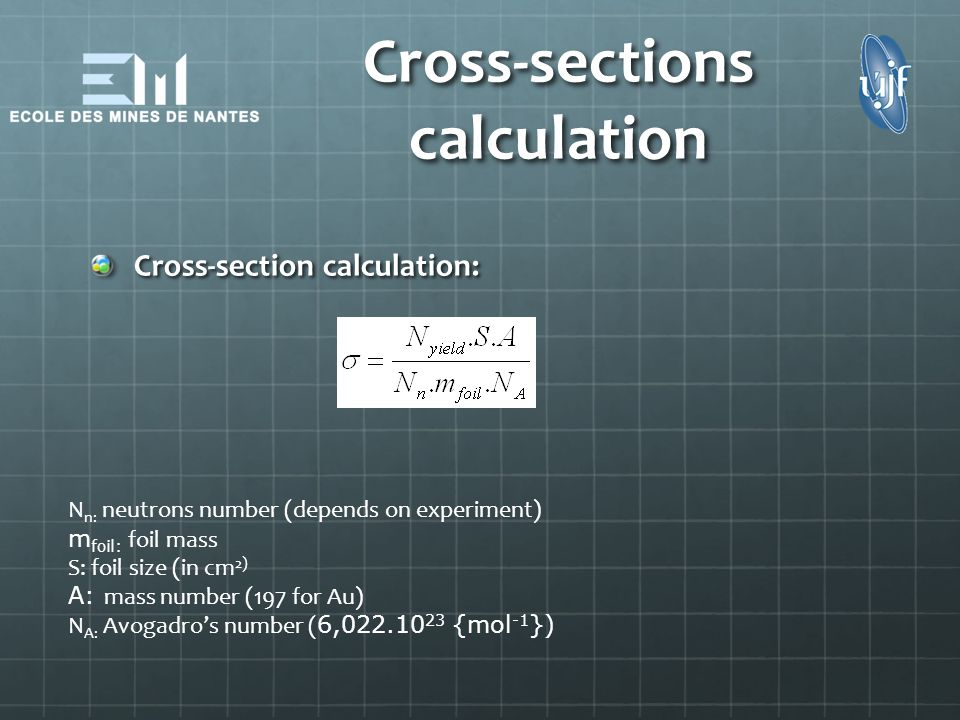 Cross-sections calculation