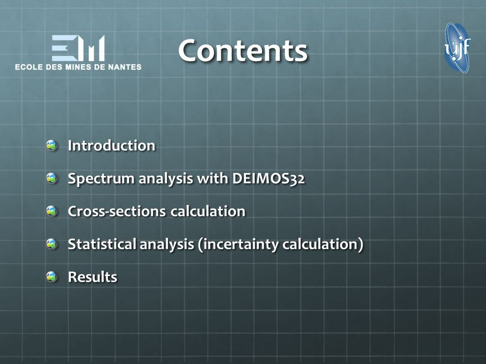 Contents Introduction Spectrum analysis with DEIMOS32