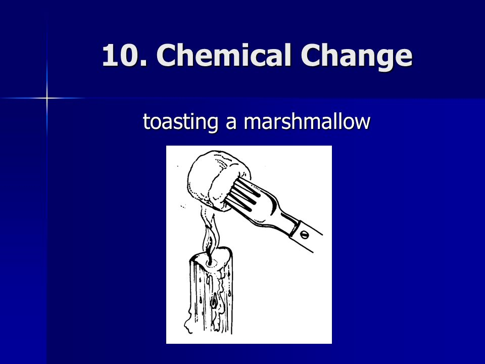 toasting a marshmallow