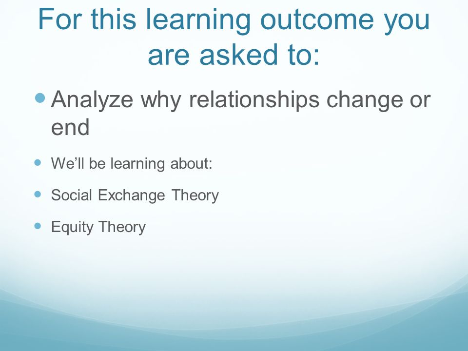 For this learning outcome you are asked to: