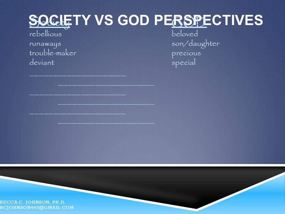 SocietY Vs God Perspectives