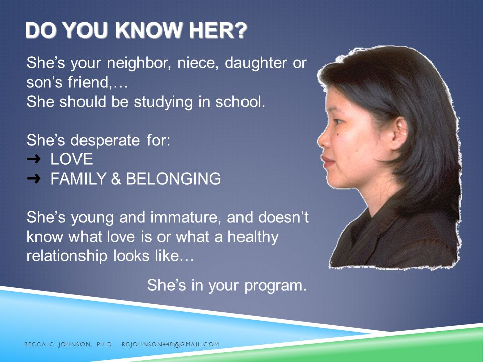 Do you know her She's your neighbor, niece, daughter or son's friend,… She should be studying in school.