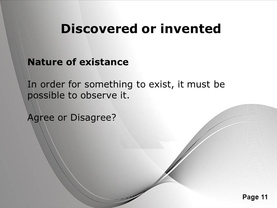 Discovered or invented