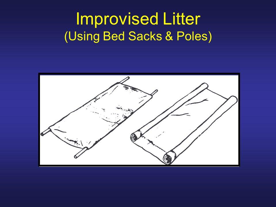 Improvised Litter (Using Bed Sacks & Poles)