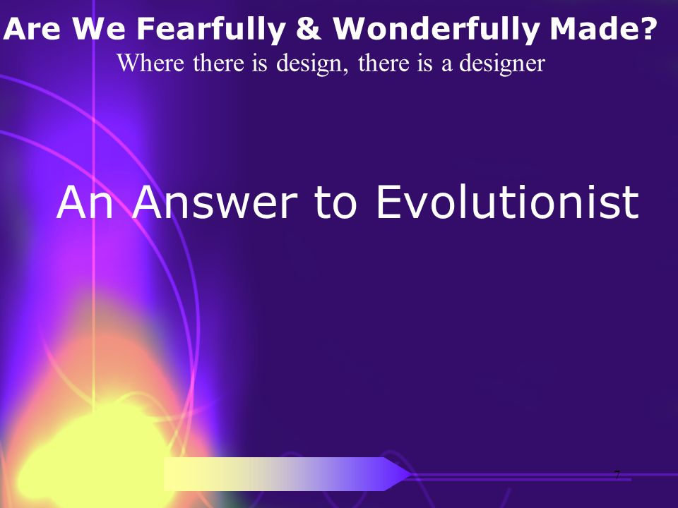 An Answer to Evolutionist