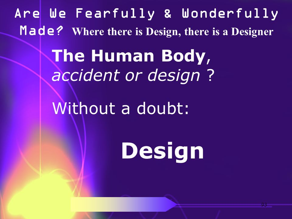 The Human Body, accident or design