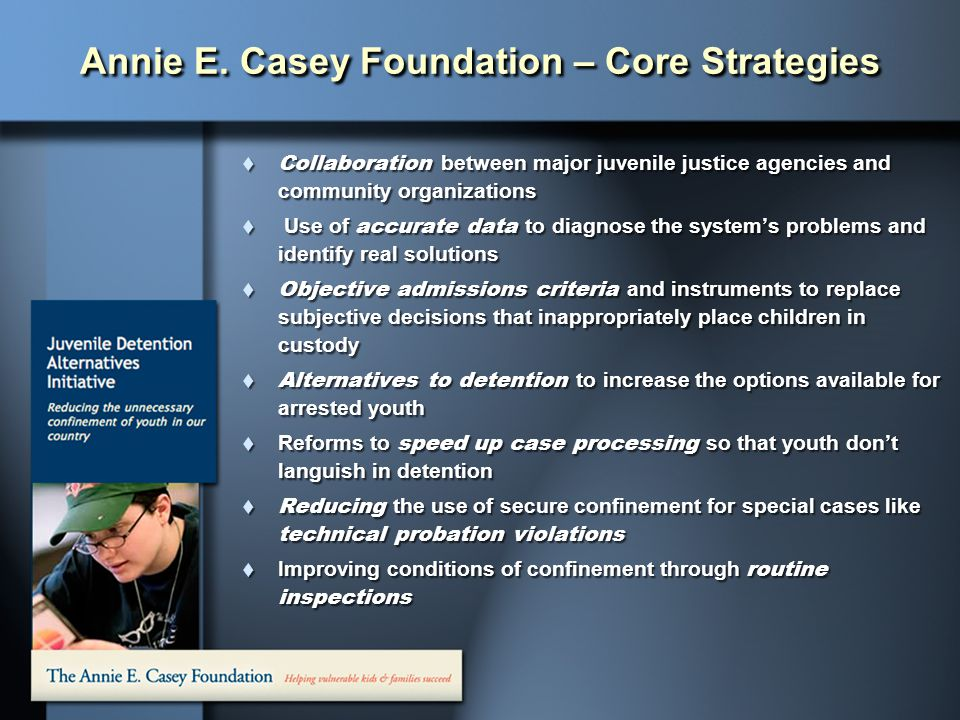 Annie E. Casey Foundation – Core Strategies
