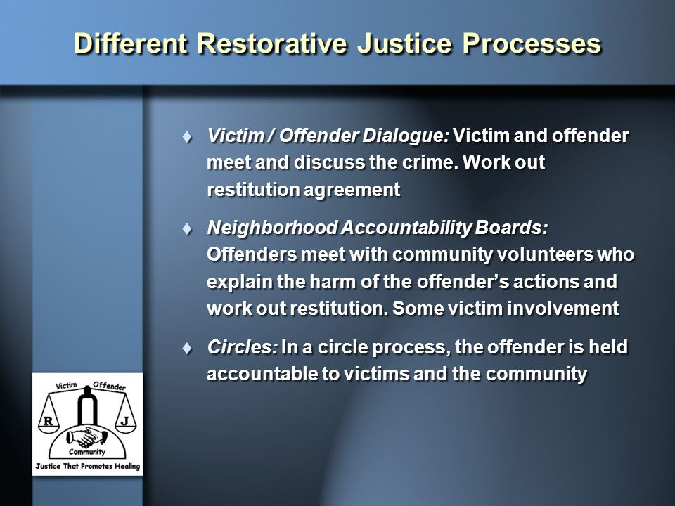 Different Restorative Justice Processes