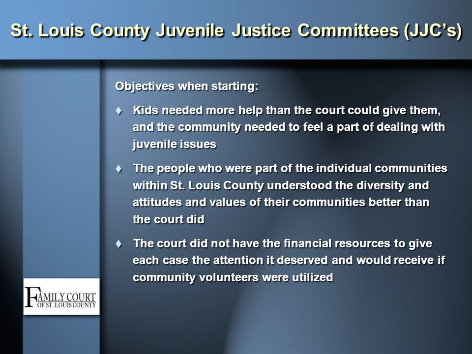 St. Louis County Juvenile Justice Committees (JJC's)
