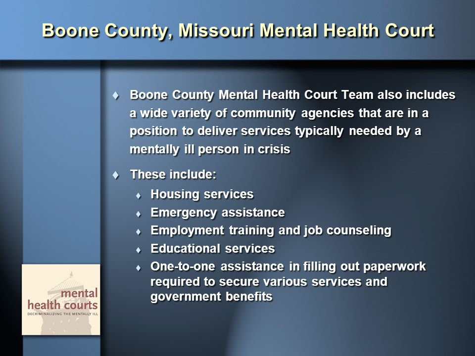 Boone County, Missouri Mental Health Court