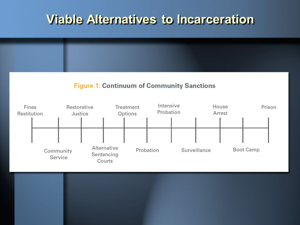 Viable Alternatives to Incarceration