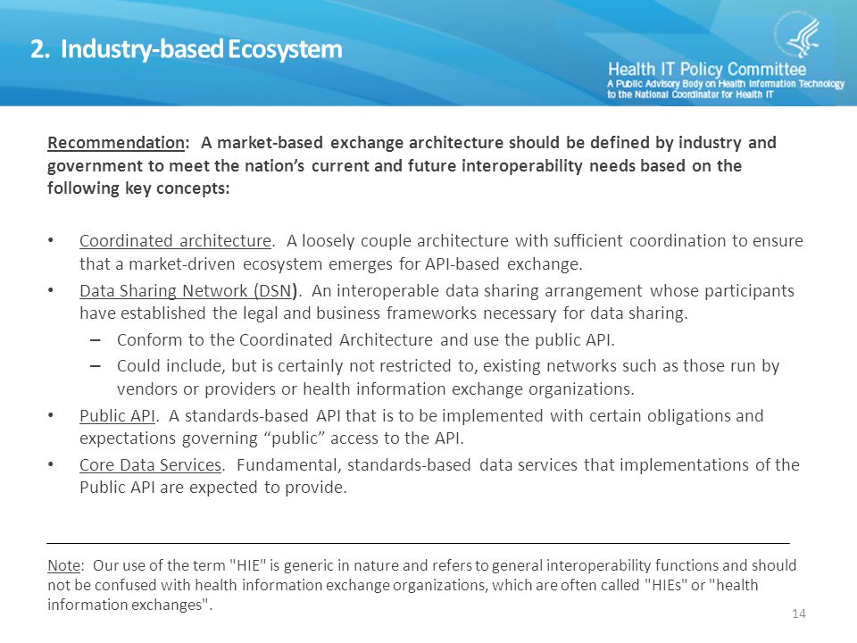 2. Industry-based Ecosystem (continued)