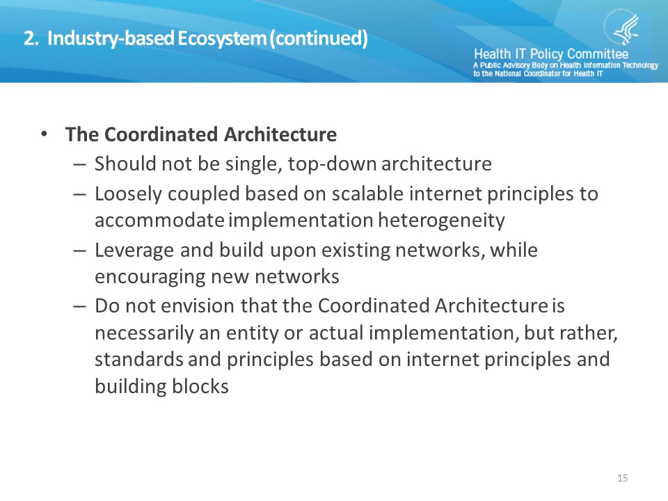 3. Data Sharing Networks in a Coordinated Architecture