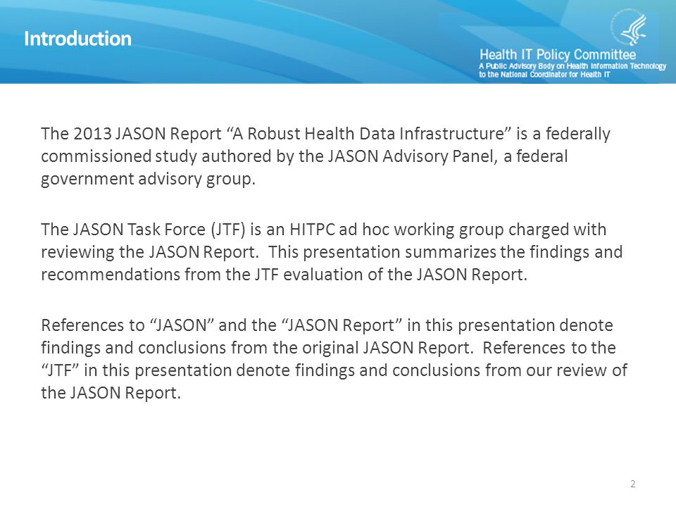 Analyze and synthesize feedback on the JASON Report