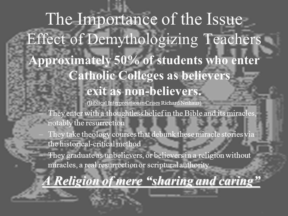 The Importance of the Issue Effect of Demythologizing Teachers