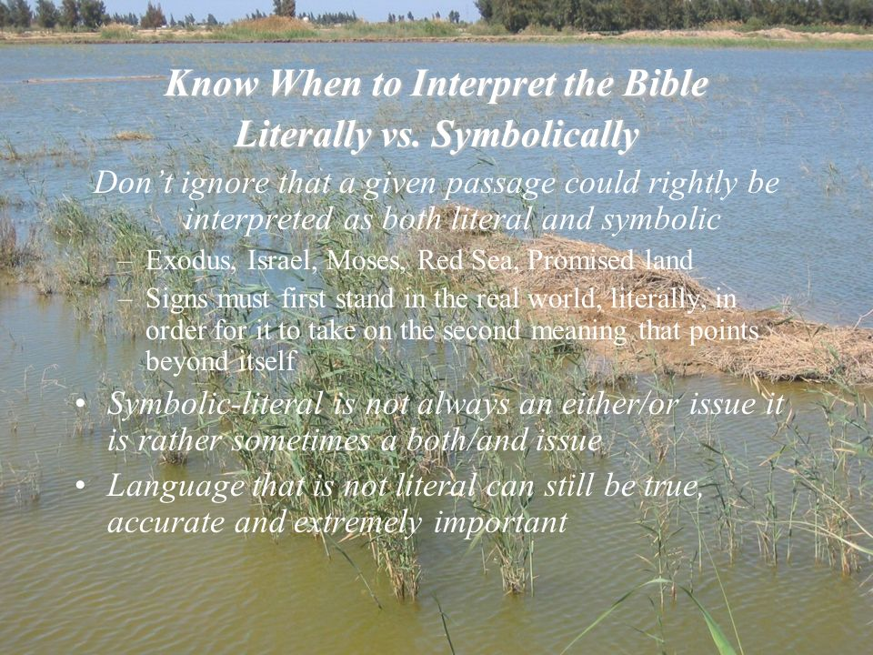 Know When to Interpret the Bible