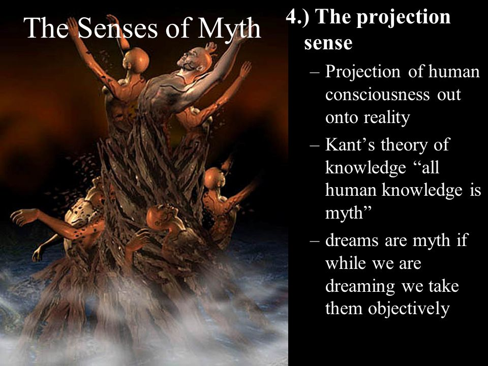 The Senses of Myth 4.) The projection sense