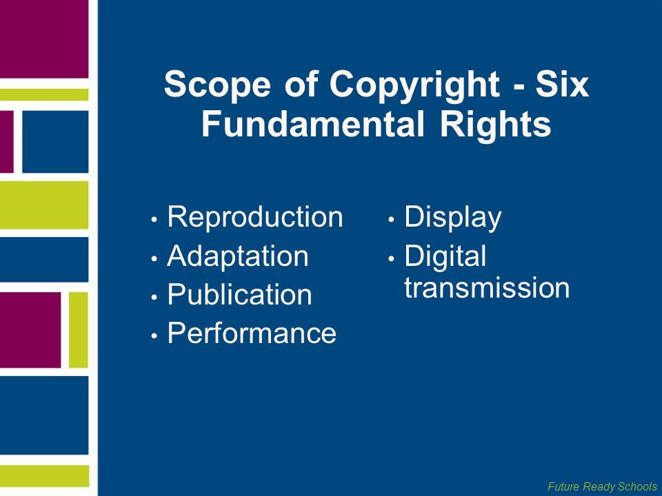 Scope of Copyright - Six Fundamental Rights