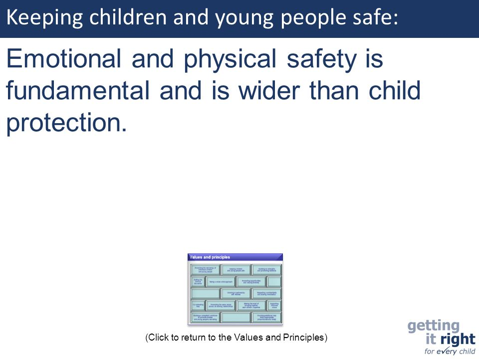 Keeping children and young people safe: