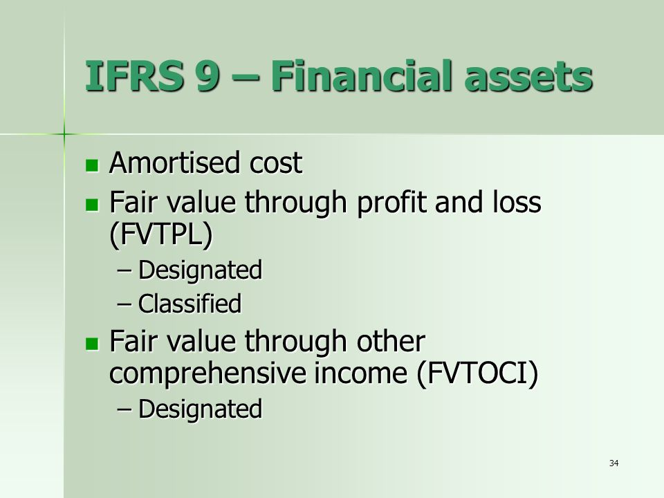 IFRS 9 – Financial assets