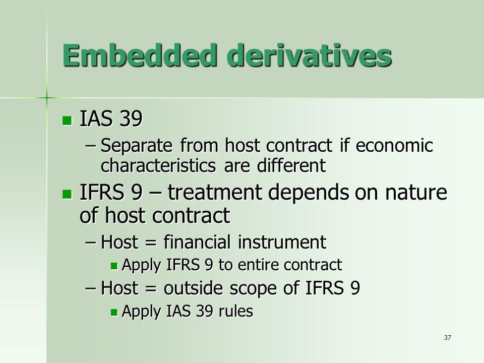 Embedded derivatives IAS 39