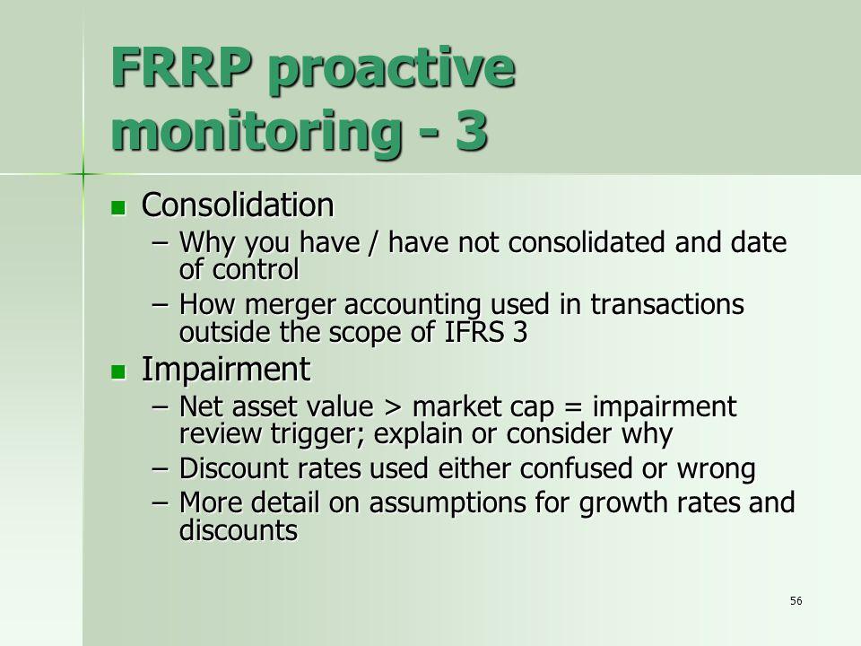 FRRP proactive monitoring - 3