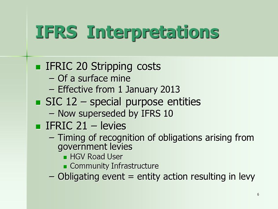 IFRS Interpretations IFRIC 20 Stripping costs