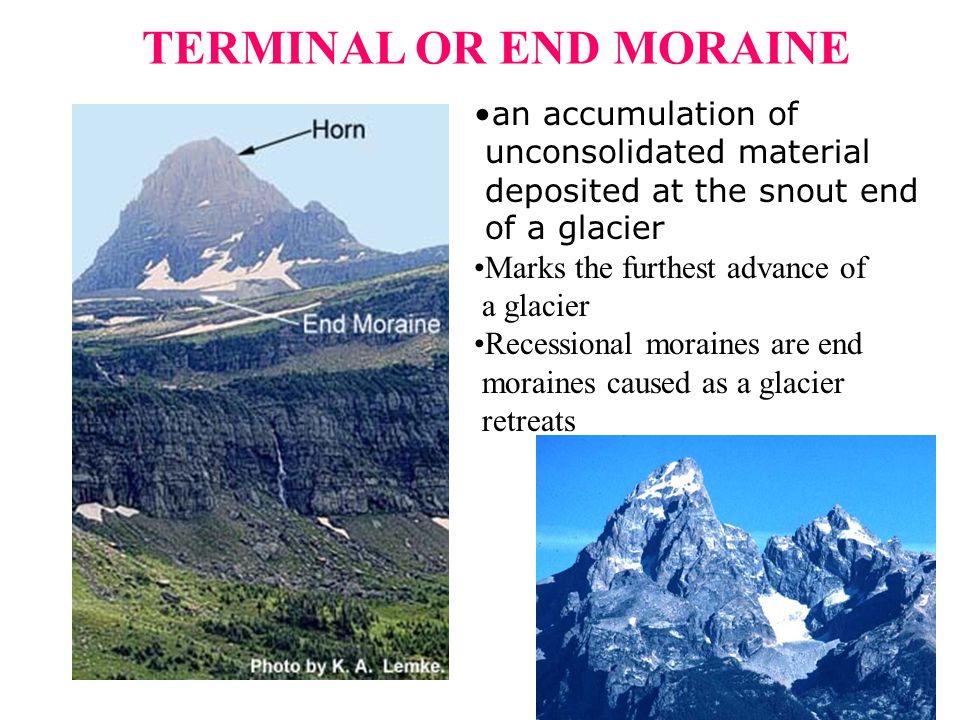 TERMINAL OR END MORAINE
