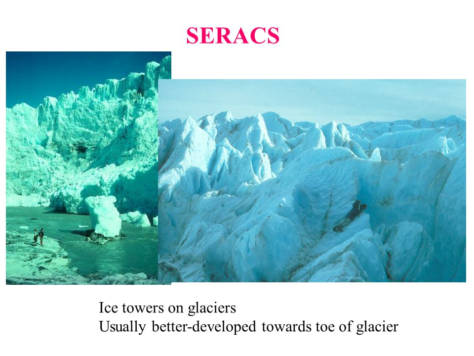SERACS Ice towers on glaciers