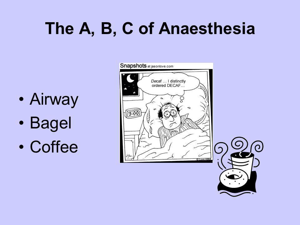 The A, B, C of Anaesthesia Airway Bagel Coffee