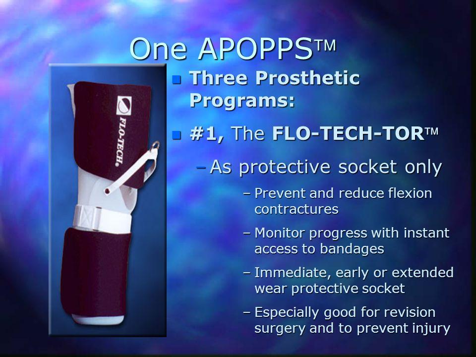 One APOPPS Three Prosthetic Programs: #1, The FLO-TECH-TOR