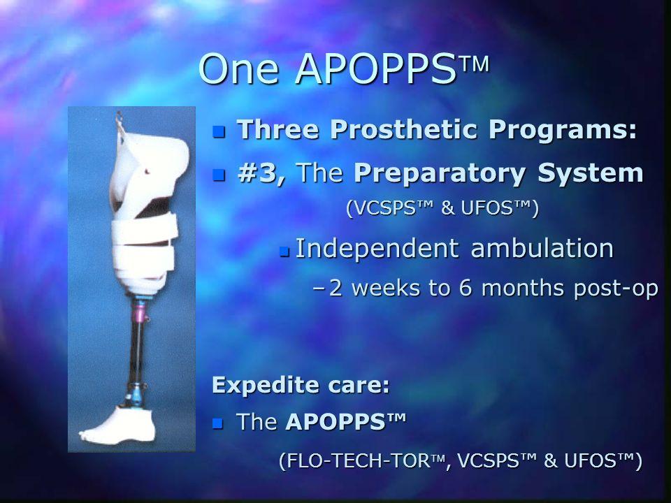 One APOPPS Three Prosthetic Programs: #3, The Preparatory System