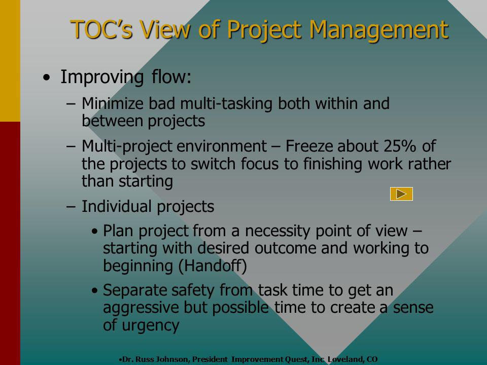 TOC's View of Project Management